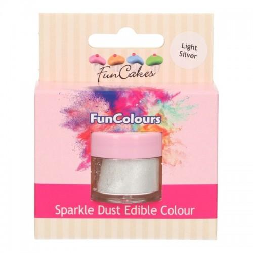 FunColours prachová perleťová barva - Light silver 3g